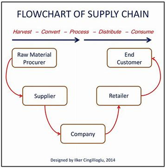 flow chart of supply chain management