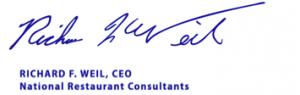 Richard Weil Signature
